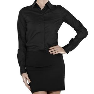 Theory Amalda Exceed Shirtdress in Black size 8